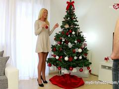 MyDirtyHobby - Super skinny blonde gets her christmas wishes!