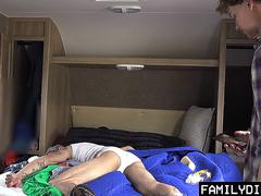 FamilyDick - Tatted Daddy Slams His Prankster Boy Hole