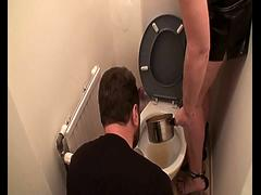 Femdom Ladies humiliate slaves on toilet