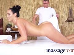 Massage Rooms Tight babe with incredible natural body fucked by masseur