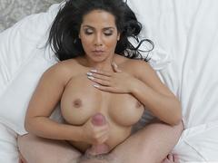 Stepmom Rose seduced stepson Peter banged with her and cums