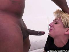 Sassy racist bitch throated by BBC