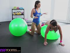 Fitness Rooms Big tits young Icelandic babe facesitting in sweaty leotard