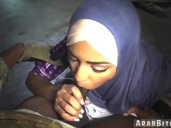 Muslim teen woman first time The Booty Drop point 23km outside base