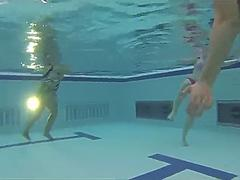 Teen Sex in Pool - Under Water Cam