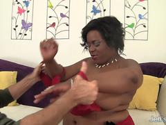 Huge Tits Black Plumper Marliese Morgan Gets Pounded by an Old White Guy
