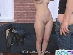 Doggystyled casting babe gets filmed
