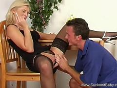 Classy Blowjob Blonde And Facial