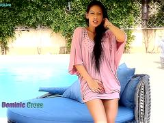 Mya Diamond and Dominic Ross have hot carnal sex by the pool