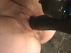 pussy fingered and intense orgasms with vibrator and huge dildo clip