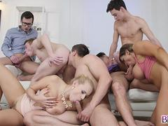Angel Wicky gets invited to a Bi Orgy instead of a swinging event