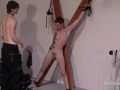 BadBoyBondage - Hottie stripped and bound for whipping and humiliation
