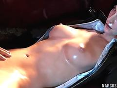 Hot blonde and brunette 3D heroes fucked raw