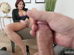 Mature mom anal facial and gets fucked by crony partner in kitchen Ryder Skye in