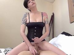 Mom Strokes Sons Cock Till He Cums