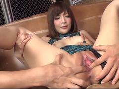 Amazing Japanese threesome with Riona Suzune - More at 69avs.com