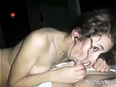 Girlfriend swallowing with passion