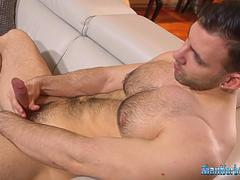hunk jerking off masturbation