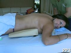 sensual oil rubbing on pussy video