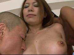 Filthy brunette woman teasing two hot guys and double penetrated - More at javhd.net