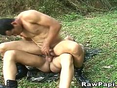 Gay Couple Fucking in the Forest