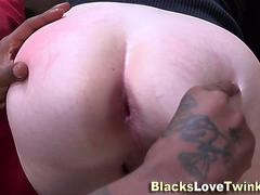 Teen twink gobbles bbc
