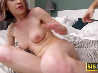 SIS.PORN. Girl wants to go to party so bad that lets stepbro fuck her