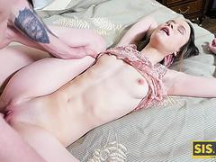 SIS.PORN. Stud will remember this night because of sex with stepsister