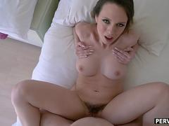 Stepsiblings angry at mom fuck with accidental creampie
