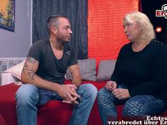 german chubby mature mom seduced younger guy