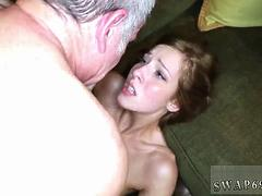 Hardcore daddy and step fucks comrade chums daughter compeers at sleep over They decide