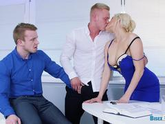 Bisex 3some in the Office