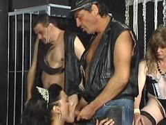 Hardcore sex in a dungeon with tranny punishment