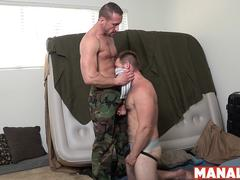 MANALIZED Myles Landon Cums Hard After Fucking Hunk Stepson