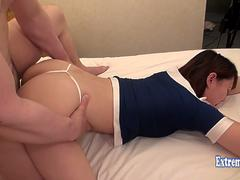 Jav College Girl Mayu Fucks Uncensored Big Ass Ripples Doing Doggy Pretty Student Rides Hard