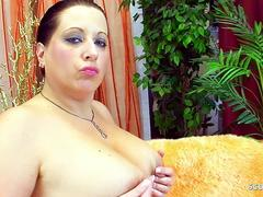 Hanging Tits Chubby Mom get Rough Fuck with Fat Cock Boy