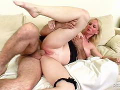 Big Floppy Tits Mom caught and Fuck by Huge Cock Step Son