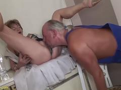 extreme deepthroat with 79 years old mom