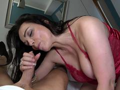 Busty mature get fucked by her stepson in POV style