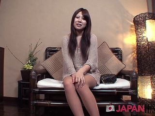 Amateur Japanese Milf Strips for Sex and Creampie