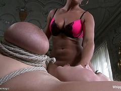 Huge tits lesbian spanked and fucked