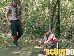 ScoutBoys Sexy scouts in uniform fuck raw outside