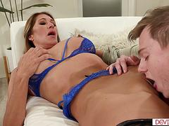 A big tits milf ass fucked by stepson and his best friend