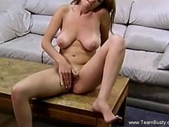 Solo Busty Amateur Blonde And Her Toy