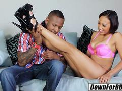 DOWN FOR BBC - Cherry Hilson big black cock and a creampie