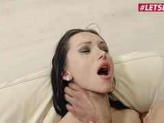 LETSDOEIT - Sasha Rose Tight Russian MILF Gets Her Ass Penetrated by a Huge Cock