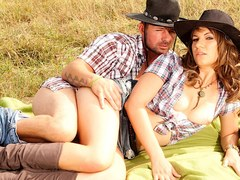 MILF Cowgirl Alice Romain Shows off Her Anal Riding Skills out on the Ranch