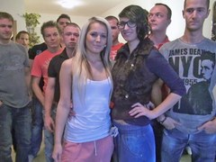 Massive Gangbang with Beautiful Blonde
