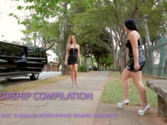 SHEMALES WORSHIPPING WOMEN COMPILATION