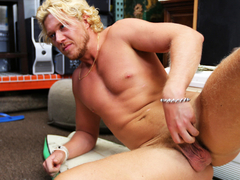 The blond dude gets to have his dick sucked